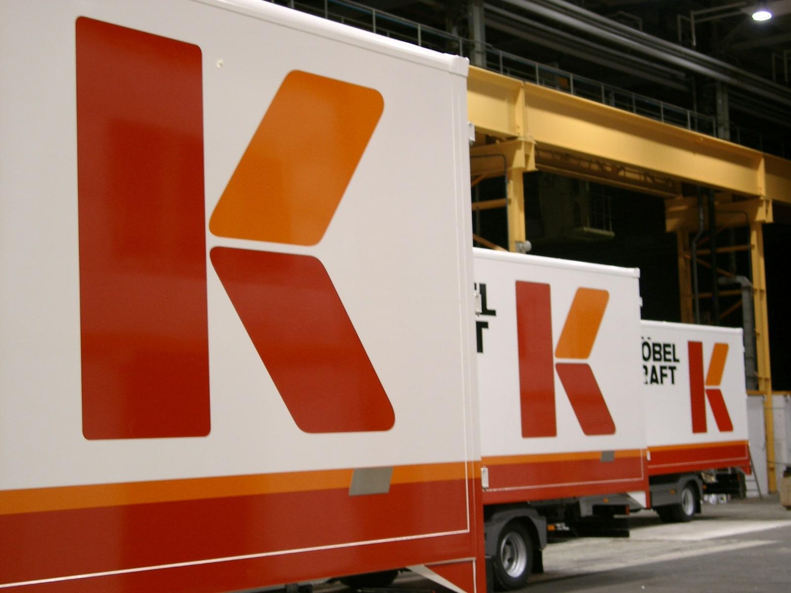 Möbel Kraft – Folienbeschriftung Fahrzeugflotte